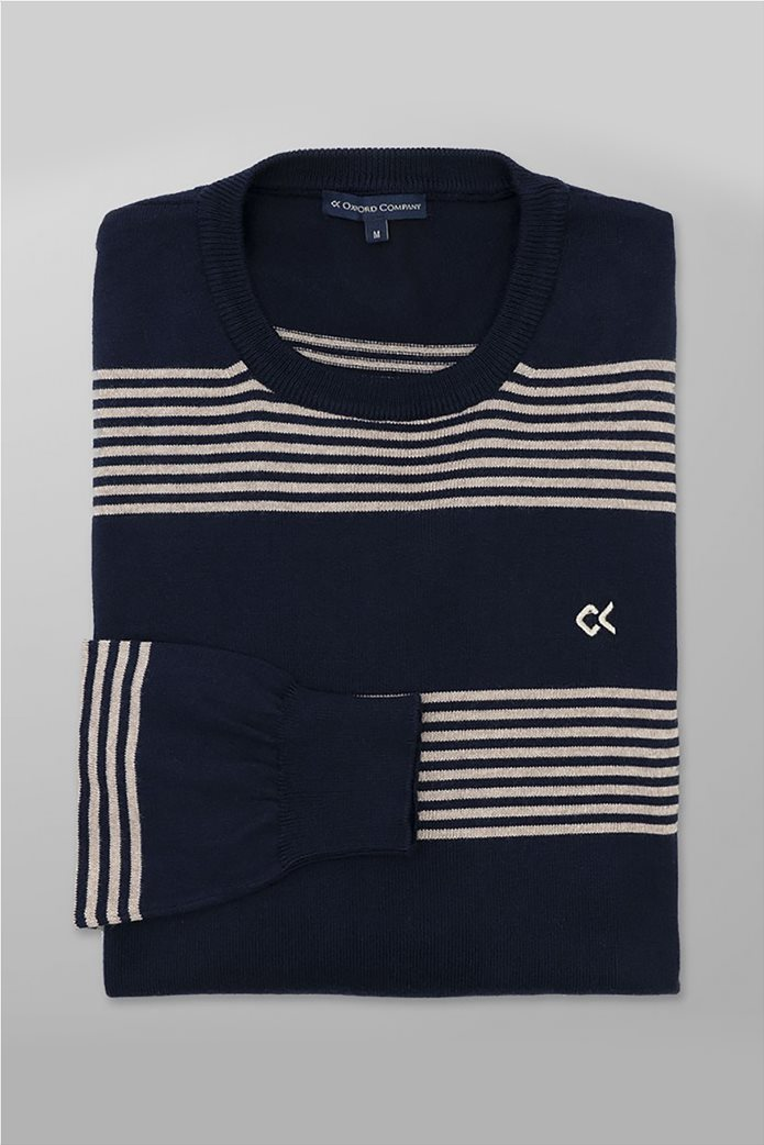 Oxford Company ανδρική πλεκτή μπλούζα με ρίγες 1