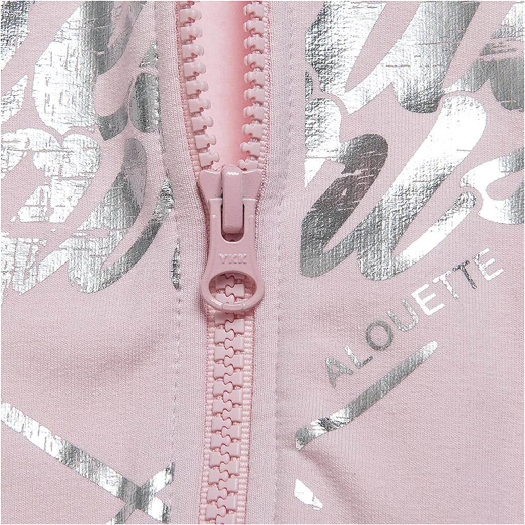 Alouette παιδική ζακέτα φούτερ με μεταλλιζέ τύπωμα 1