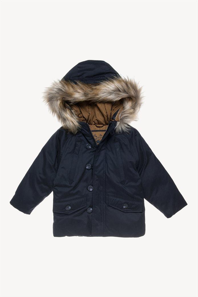 Alouette παιδικό μπουφάν με αφαιρούμενη γούνα στην κουκούλα 0