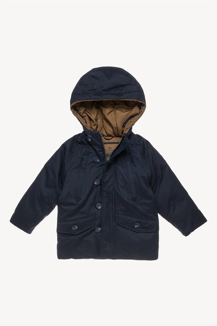 Alouette παιδικό μπουφάν με αφαιρούμενη γούνα στην κουκούλα 1