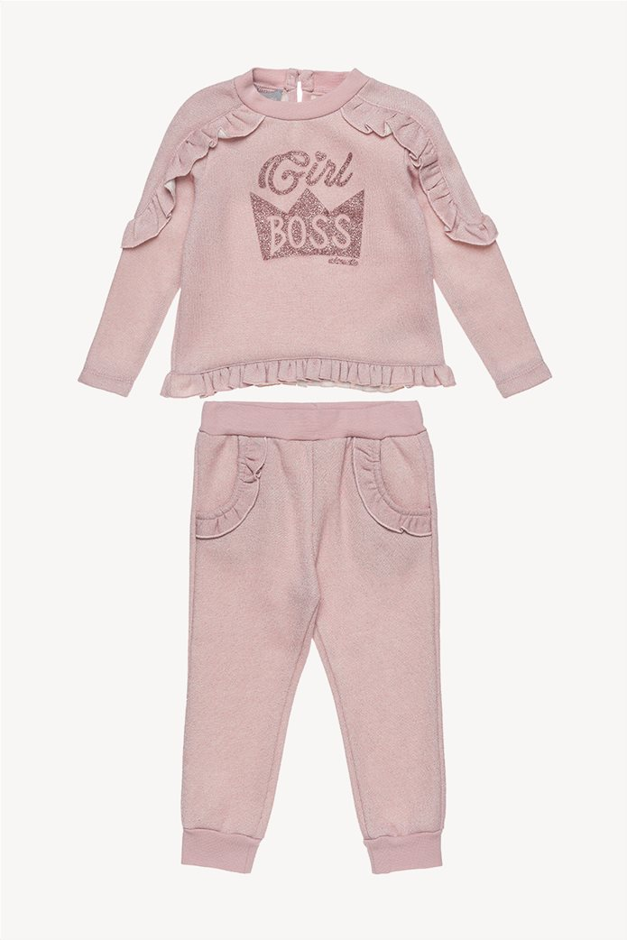 Alouette παιδικό σετ μεταλλιζέ μπλούζα και παντελόνι με βολάν 0