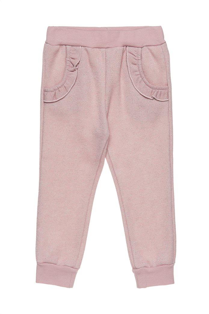 Alouette παιδικό σετ μεταλλιζέ μπλούζα και παντελόνι με βολάν 3