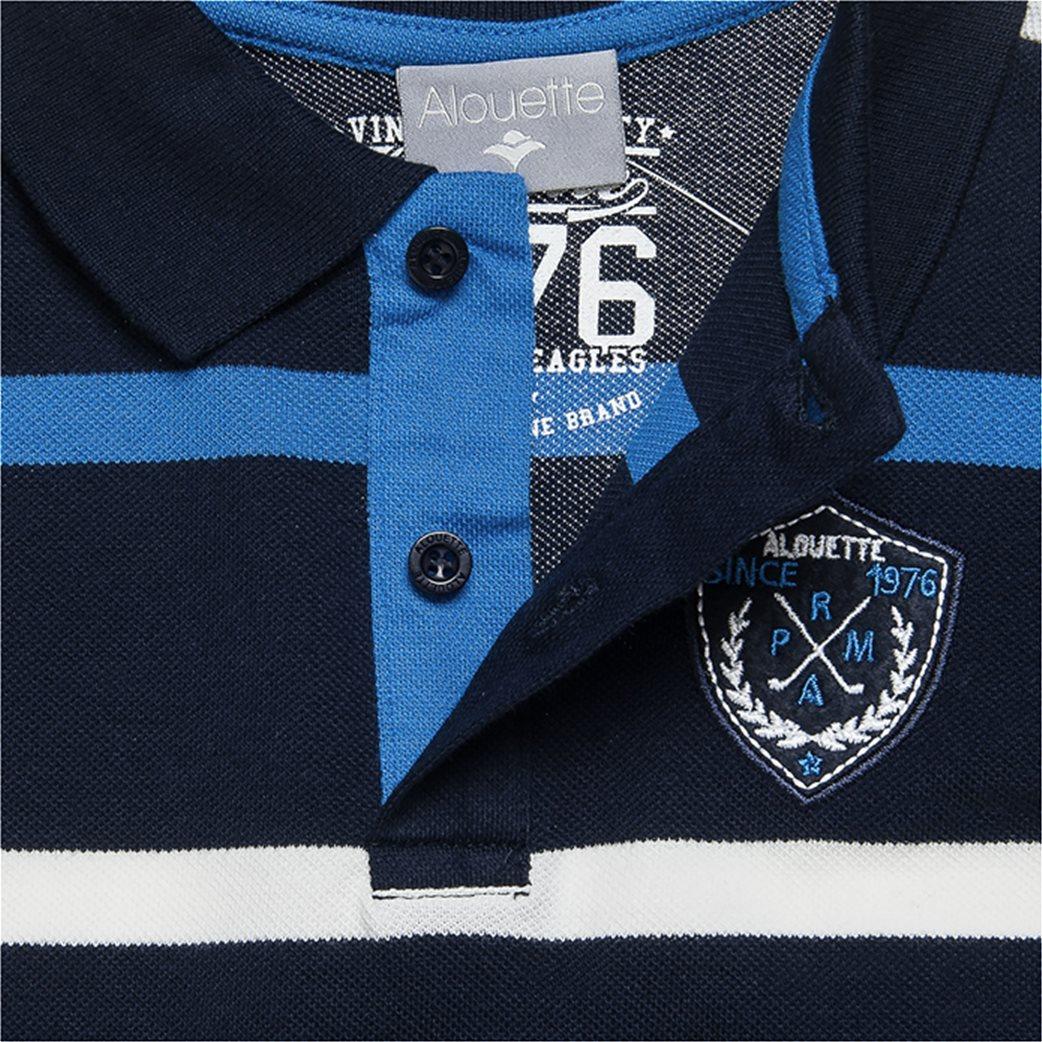 Alouette παιδική μπλούζα ριγέ polo με patch 1