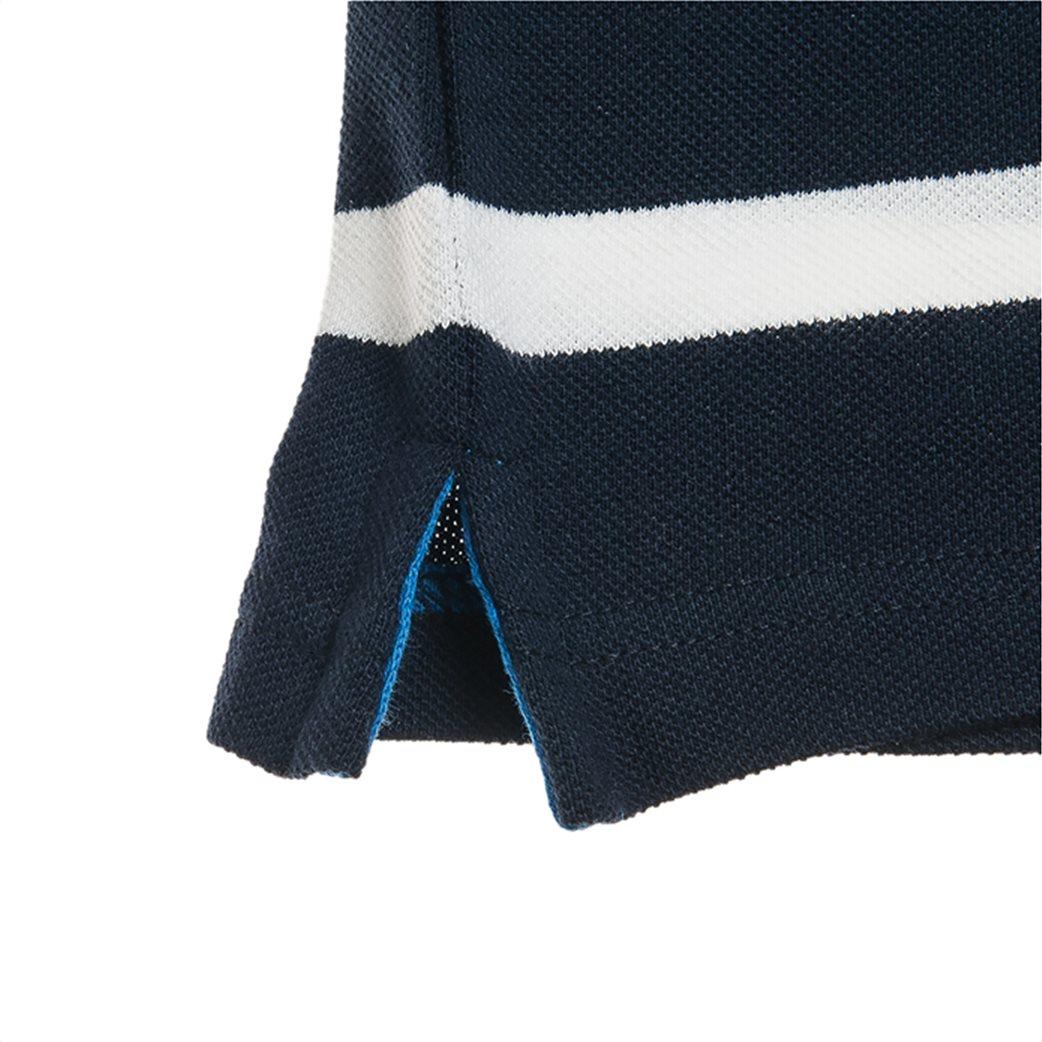 Alouette παιδική μπλούζα ριγέ polo με patch 2