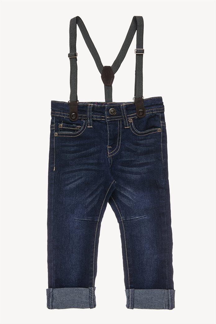Alouette παιδικό παντελόνι τζην ελαστικό με τιράντες 0