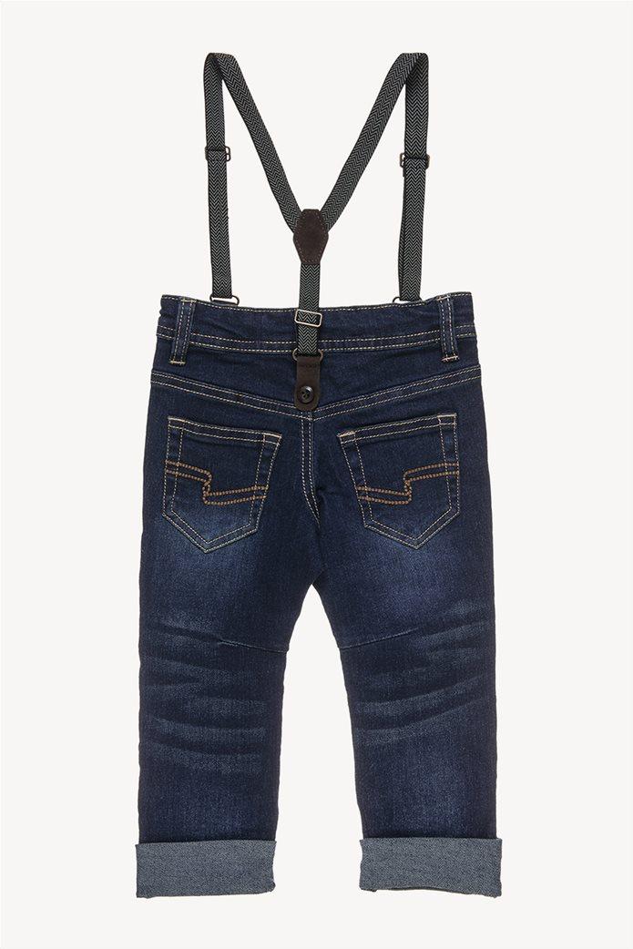 Alouette παιδικό παντελόνι τζην ελαστικό με τιράντες 1