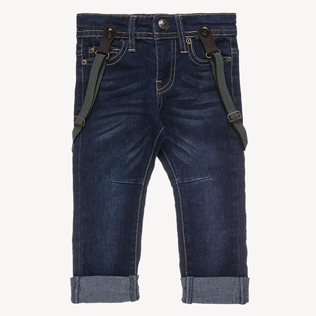 Alouette παιδικό παντελόνι τζην ελαστικό με τιράντες 2