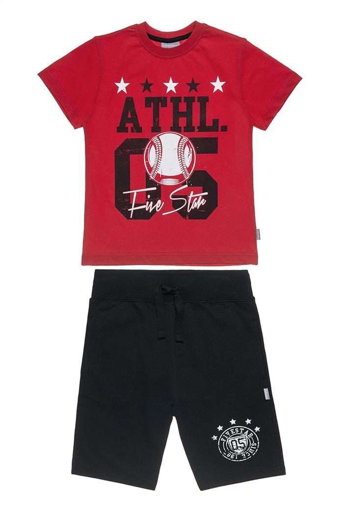 Αlouette παιδικό σετ φόρμας μπλούζα με τύπωμα και βερμούδα  Five Star (6-16 ετών) 0