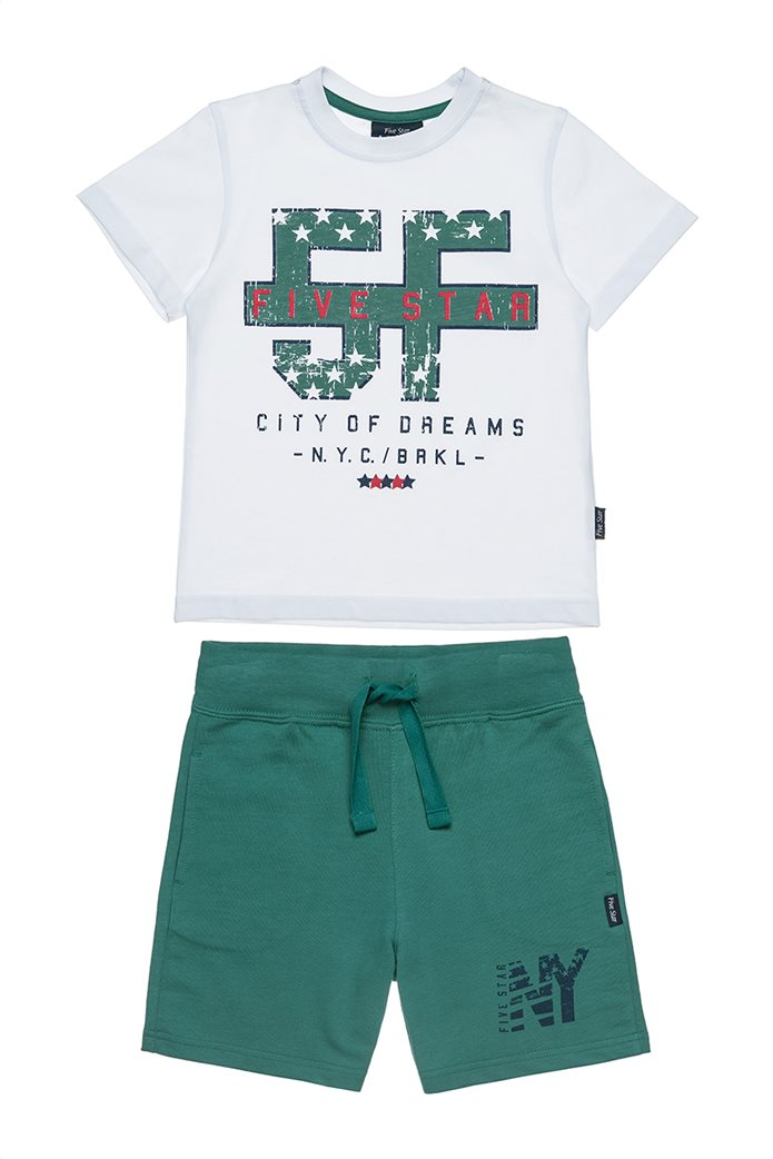 Αlouette παιδικό σετ μπλούζα με τύπωμα και βερμούδα  Five Star (9 μηνών-5 ετών) 0
