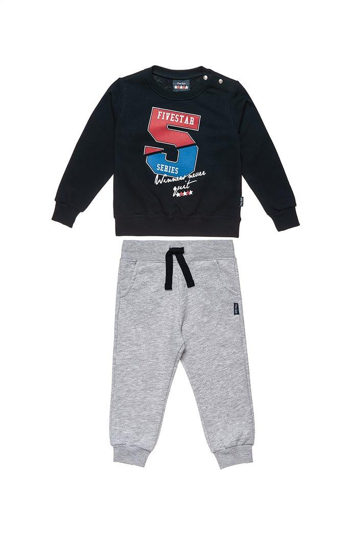 "Alouette παιδικό σετ ρούχων μπλούζα με print και παντελόνι με λάστιχο ""Five Star"" (12 μηνών-5 ετών) 0"