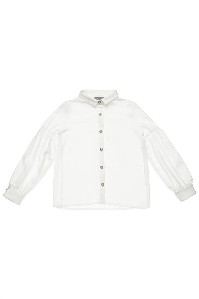Alouette παιδικό πουκάμισο με balloon μανίκια και διακοσμητικά κουμπιά (6-14 ετών) 0