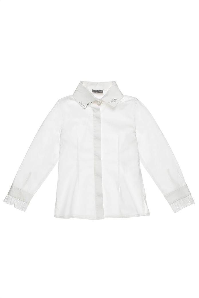 Alouette παιδικό πουκάμισο με στρας και βολανάκια (6-14 ετών) 0
