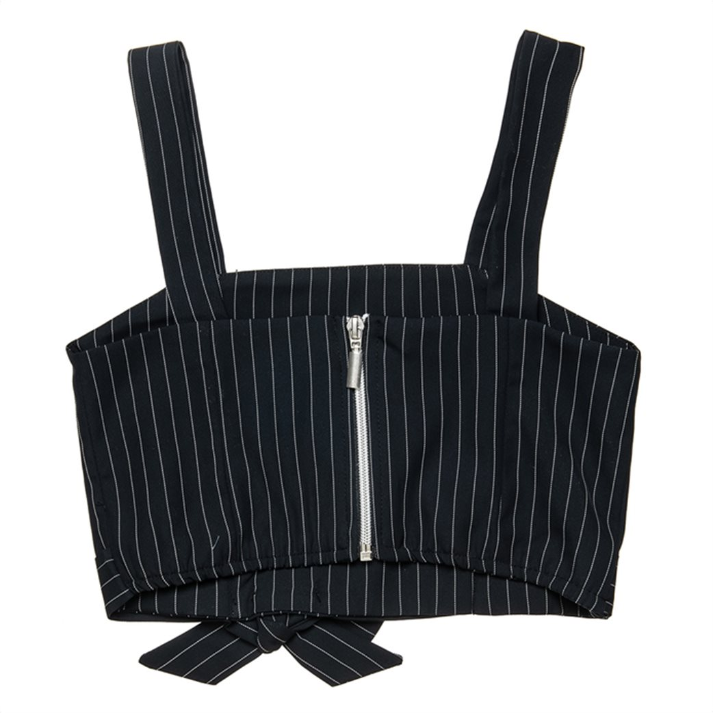 Alouette παιδική μπλούζα cropped αμάνικη ριγέ με φιόγκο (8-16 ετών) 1