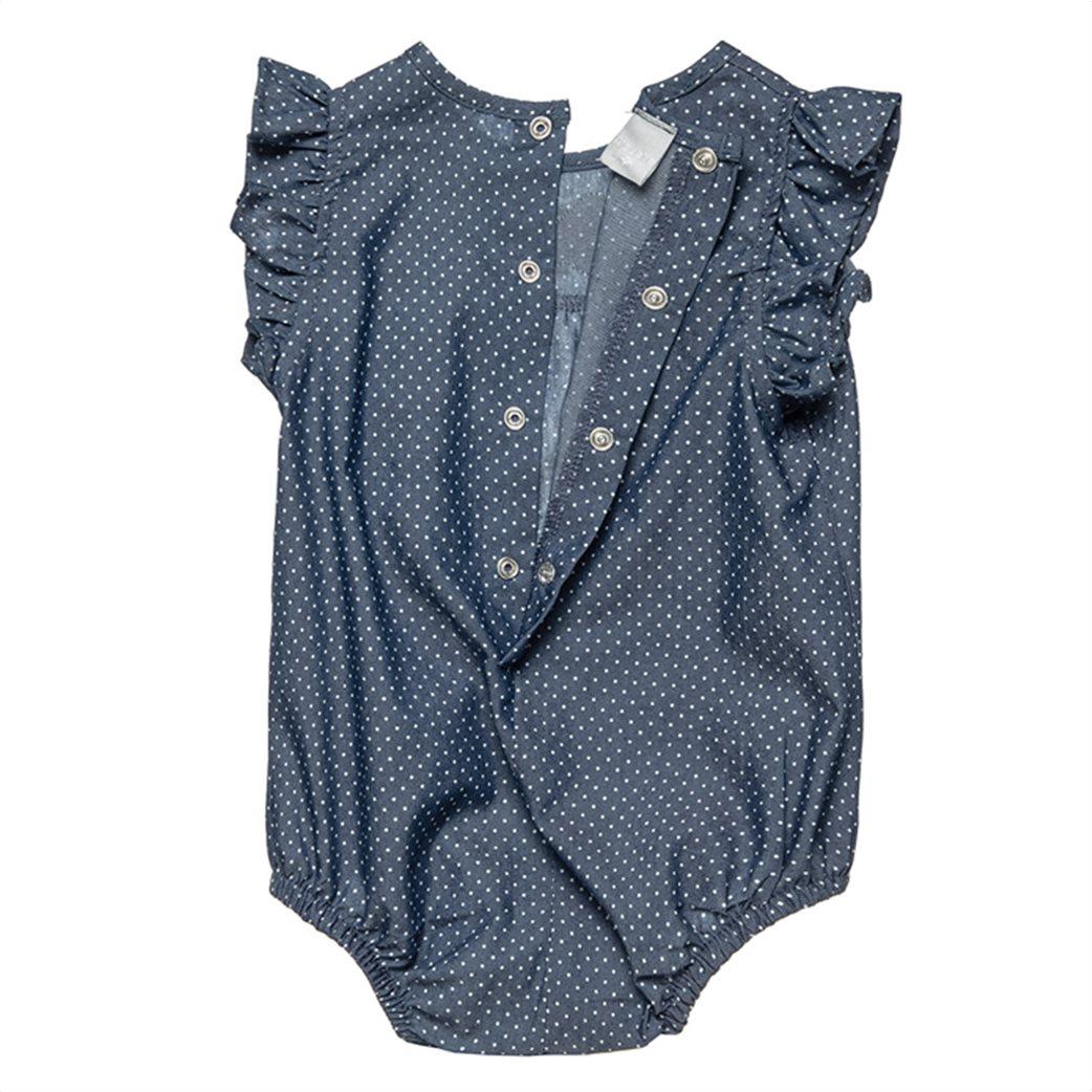 Alouette βρεφικό φορμάκι πουά με βολάν στα μανίκια και κεντήματα (1-9 μηνών) 1