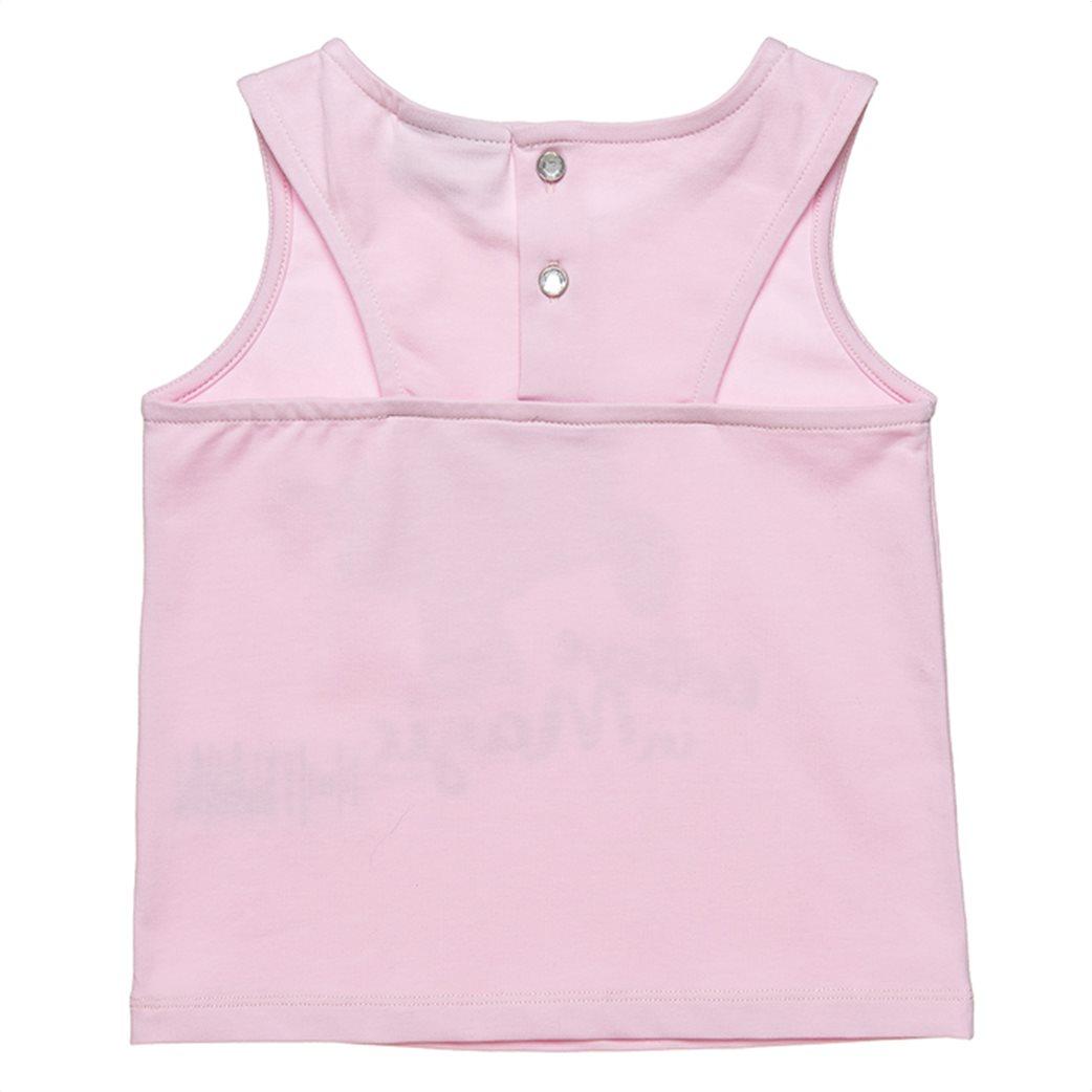 Alouette παιδικό σετ ρούχων αμάνικη μπλούζα με patch unicorn και σορτς (12 μηνών-5 ετών) 2