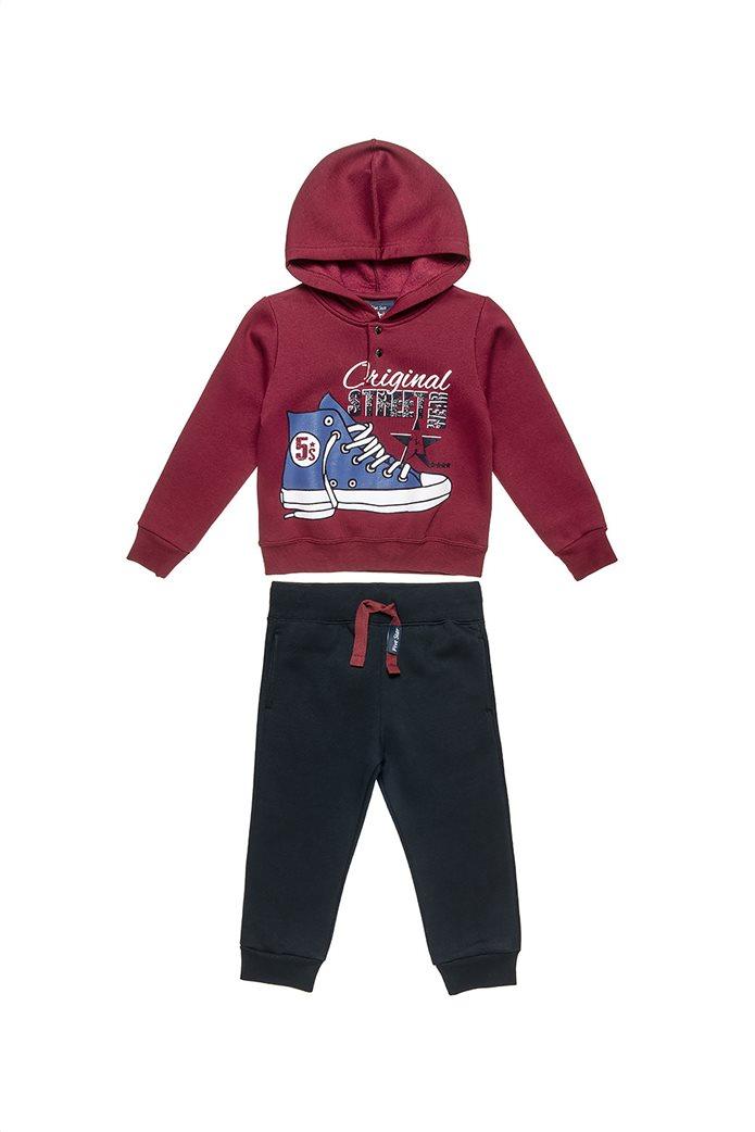"Alouette παιδικό σετ μπλούζα φούτερ με κουκούλα και παντελόνι ""Five Star"" (12 μηνών-5 ετών) 0"