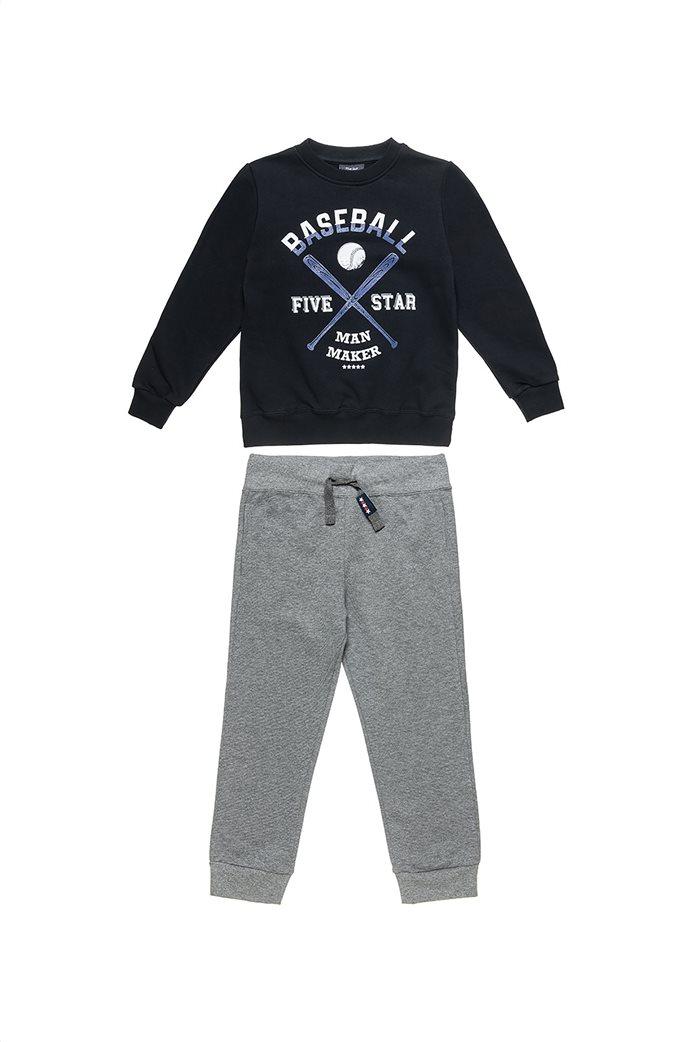 "Alouette παιδικό σετ ρούχων μπλούζα φούτερ με ανάγλυφο print και παντελόνι ""Five Star"" (12 μηνών-5 ετών) 0"