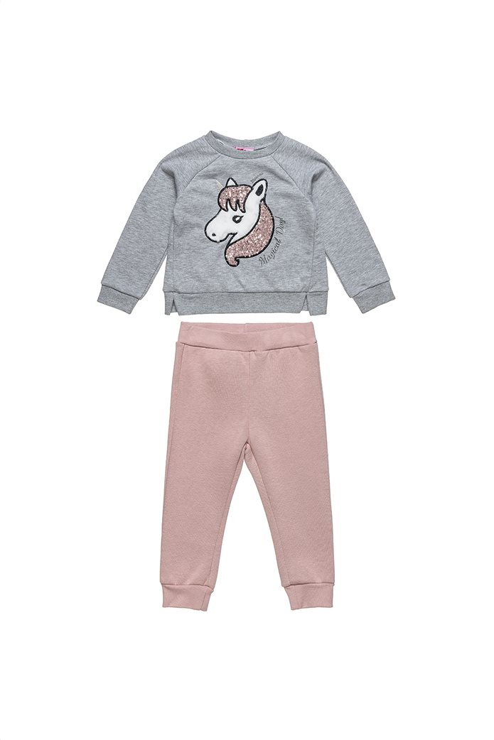 "Alouette παιδικό σετ ρούχων μπλούζα με κέντημα και παντελόνι ""Moovers"" (2-5 ετών) 0"