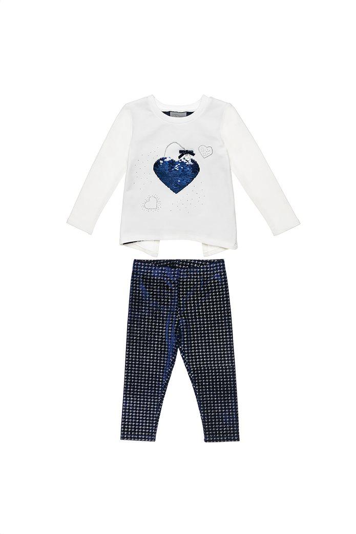 Alouette παιδικό σετ ρούχων μπλούζα με παγιέτα και κολάν (2-5 ετών) 0