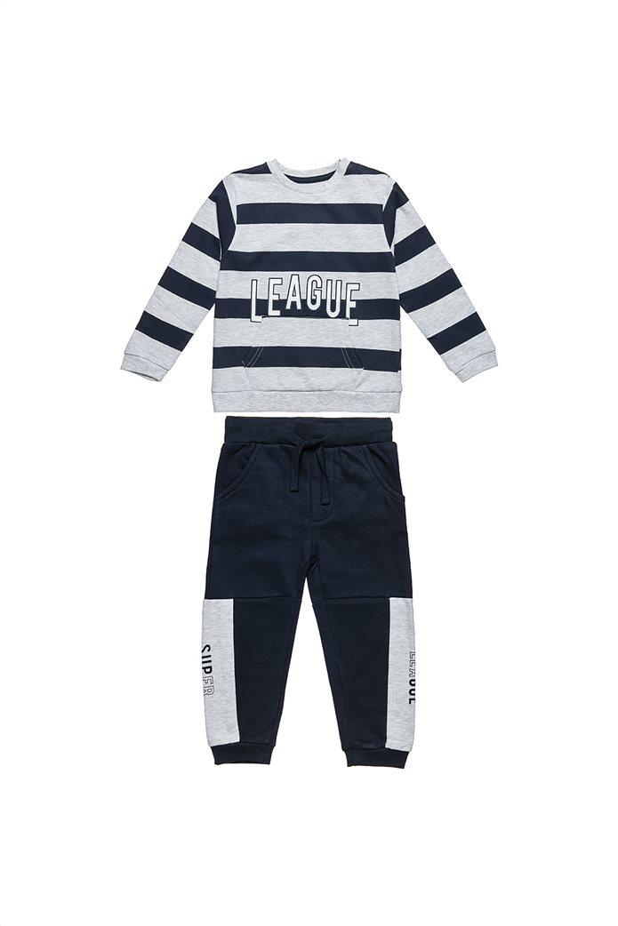 Alouette παιδικό σετ ρούχων μπλούζα με ρίγες και παντελόνι (6 μηνών-8 ετών) 0