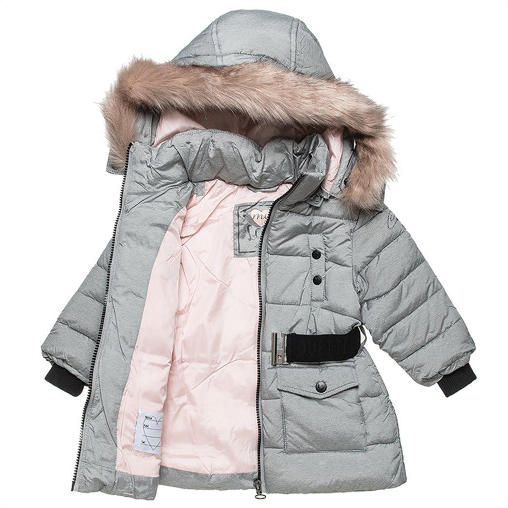 Alouette παιδικό μπουφάν με αποσπώμενη κουκούλα και ζώνη (18 μηνών-5 ετών) 2