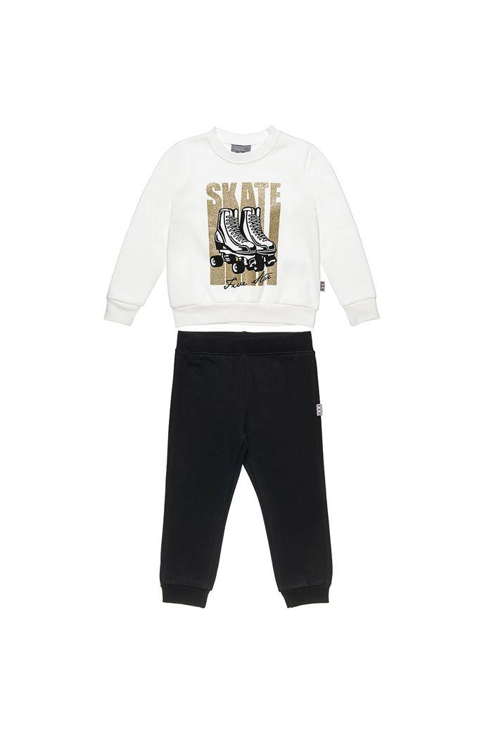 "Alouette παιδικό σετ φόρμας μπλούζα με glitter και παντελόνι ""Five Star "" (12 μηνών-5 ετών) 0"
