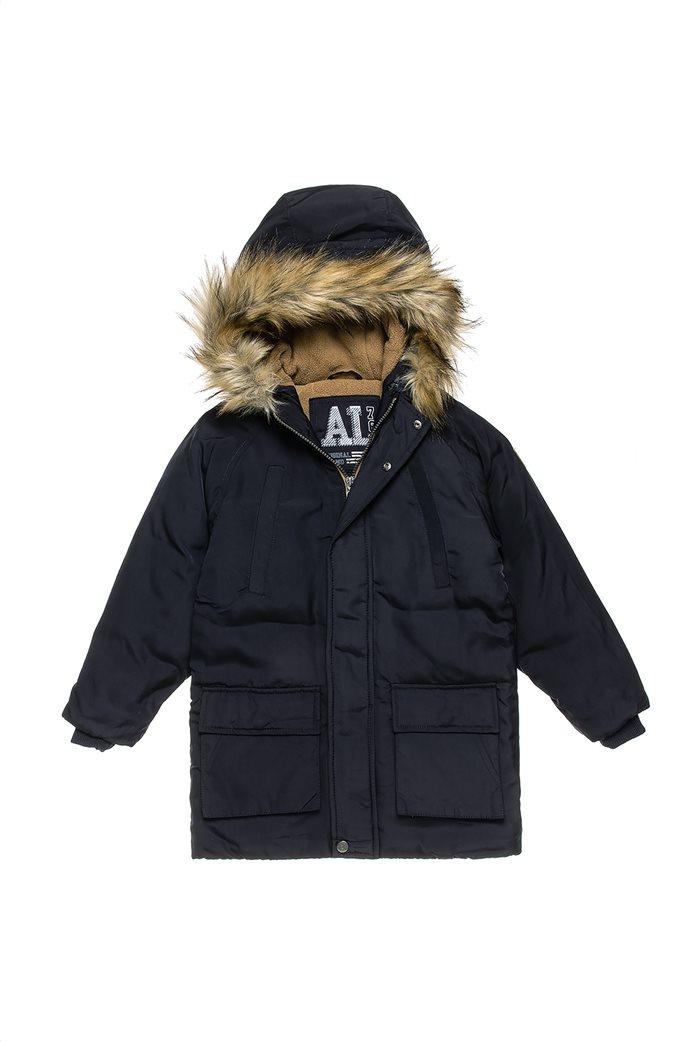 Alouette παιδικό parka με γούνα στη κουκούλα και τσέπες (6-16 ετών) Μπλε Σκούρο 0