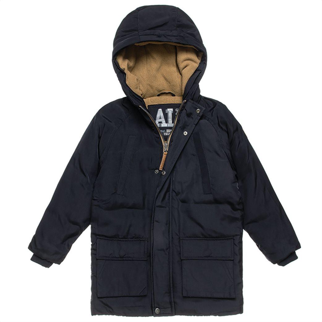 Alouette παιδικό parka με γούνα στη κουκούλα και τσέπες (6-16 ετών) Μπλε Σκούρο 1
