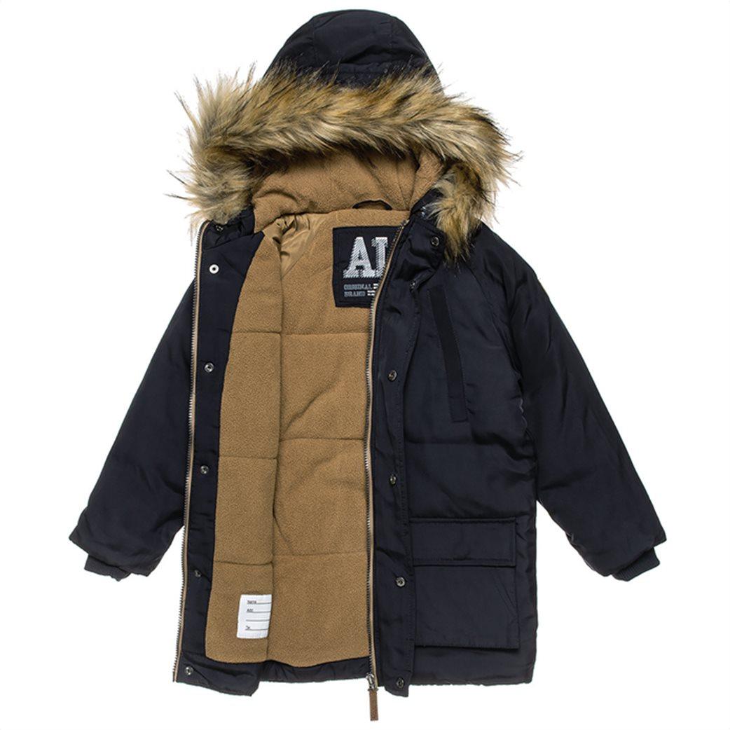 Alouette παιδικό parka με γούνα στη κουκούλα και τσέπες (6-16 ετών) Μπλε Σκούρο 2