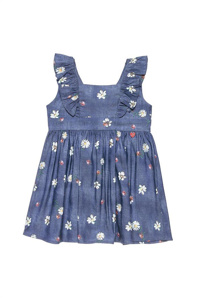 Alouette παιδικό denim φόρεμα με βολάν (12 μηνών-5 ετών) 0