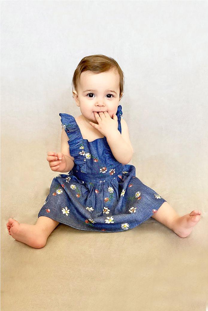 Alouette παιδικό denim φόρεμα με βολάν (12 μηνών-5 ετών) 1