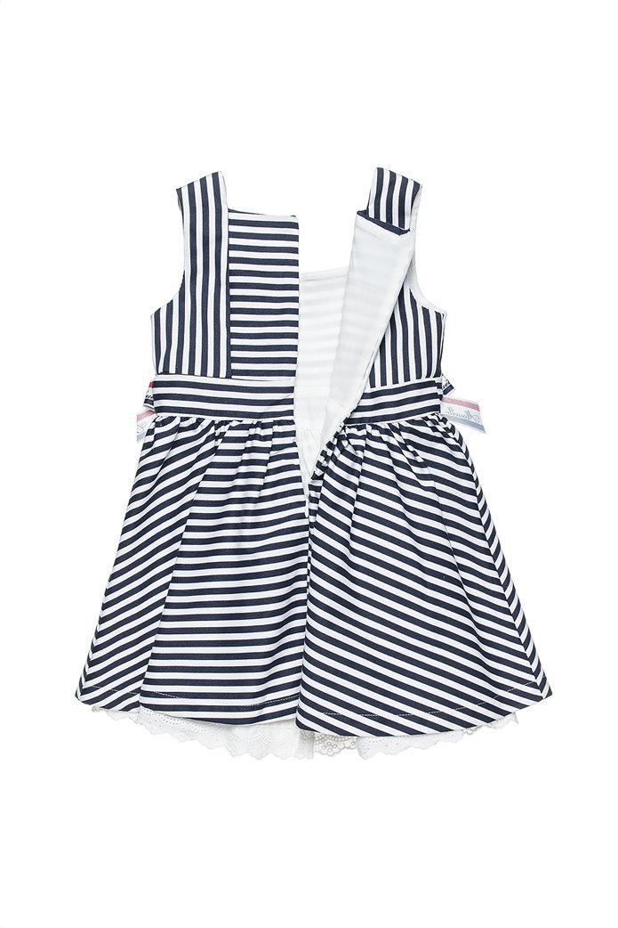Alouette παιδικό φόρεμα ριγέ με απλικέ φιόγκους (6 μηνών-5 ετών) 1