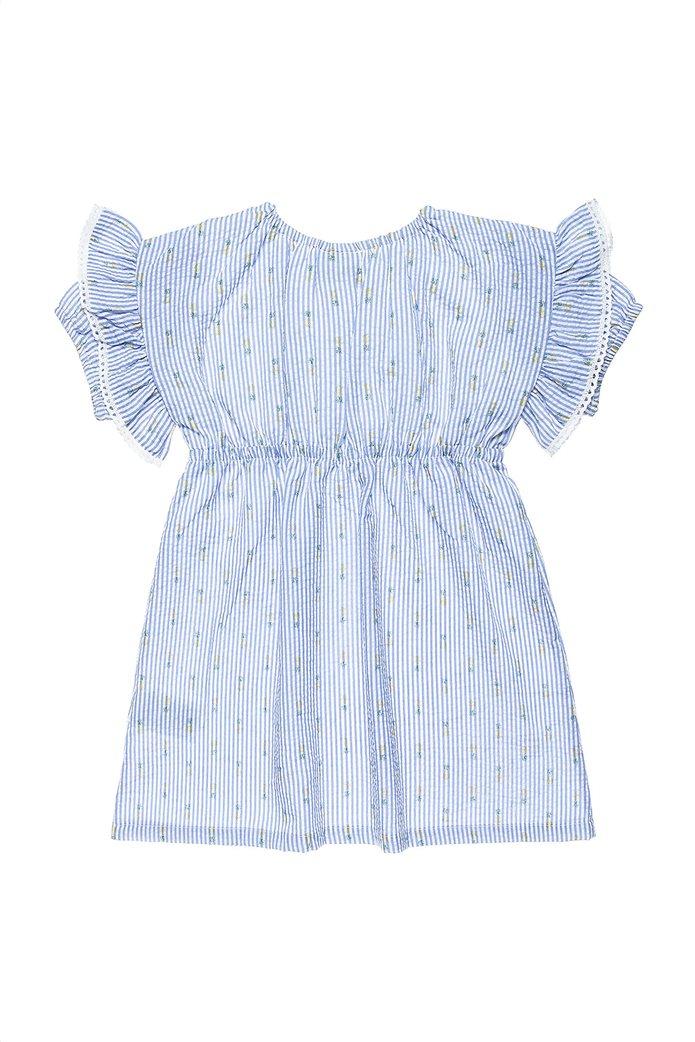Alouette παιδικό φόρεμα ριγέ με all-over pineapple print (6-12 ετών) 1