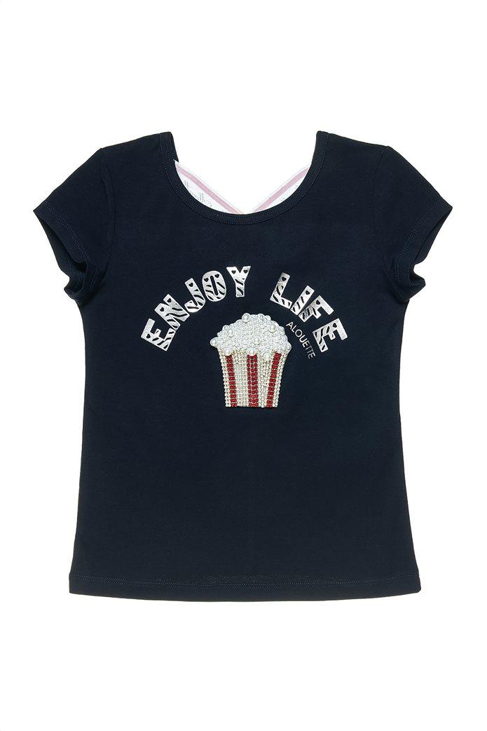 Alouette παιδικό T-shirt  με στρας και πέρλες (6-16 ετών) 0