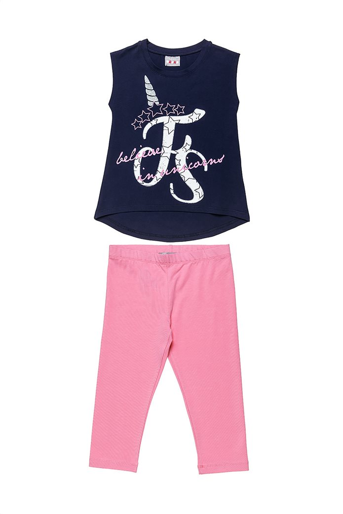 "Alouette παιδικό σετ ρούχων μπλούζα αμάνικη με graohic print και κολάν ""Five Star"" (6-16 ετών) 0"