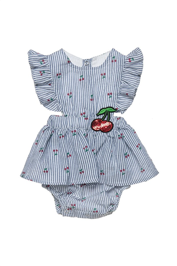 Alouette παιδικό φορμάκι ριγέ με all-over cherry print (1-9 μηνών) 0