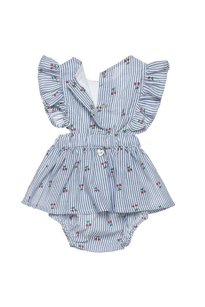 Alouette παιδικό φορμάκι ριγέ με all-over cherry print (1-9 μηνών) 1