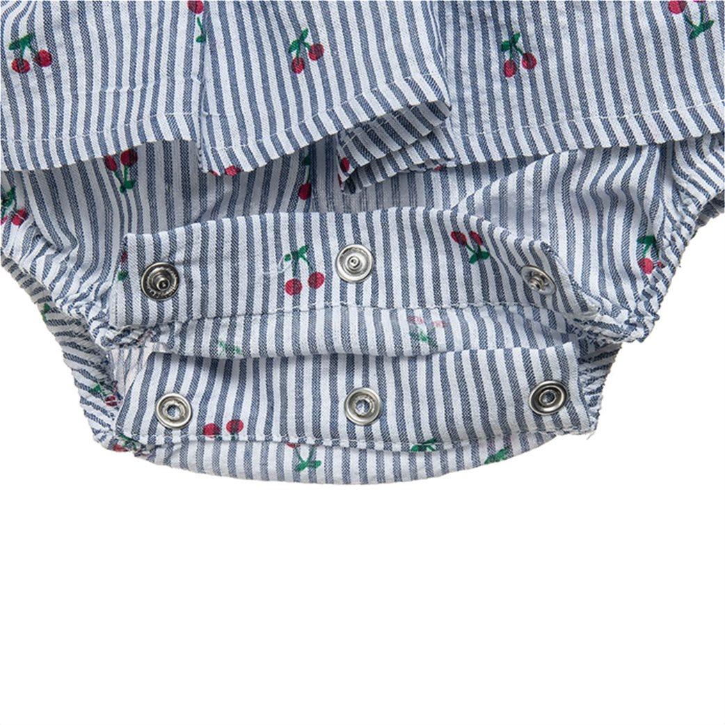Alouette παιδικό φορμάκι ριγέ με all-over cherry print (1-9 μηνών) 2