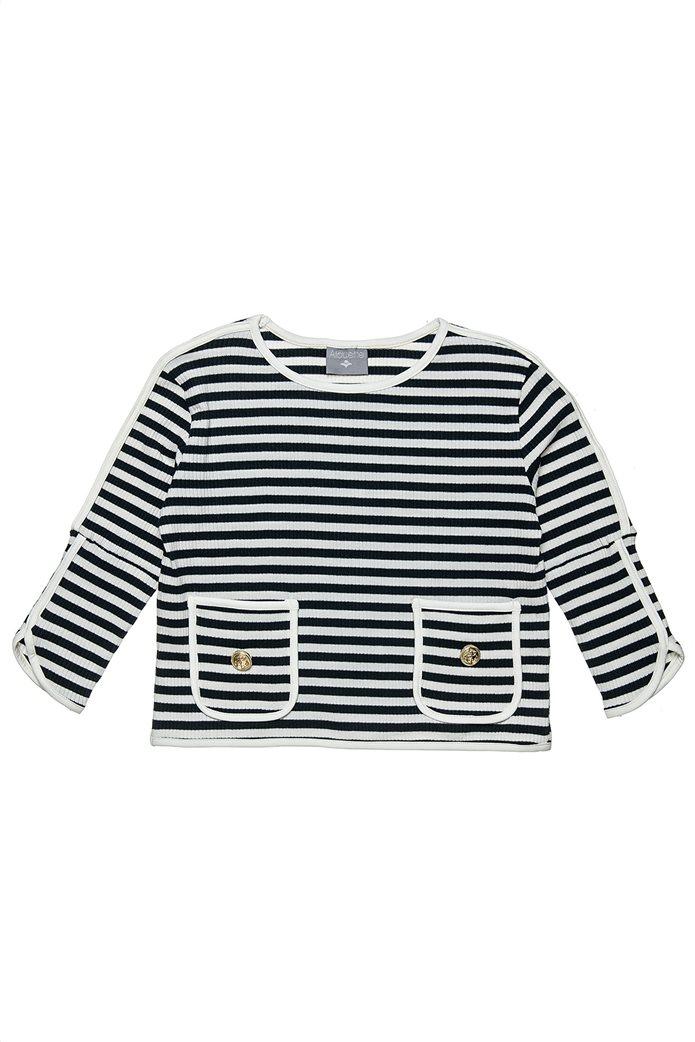 Alouette παιδική μπλούζα ριγέ με μανίκι 3/4 (6-16 ετών) 0
