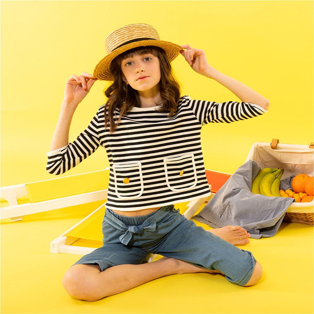 Alouette παιδική μπλούζα ριγέ με μανίκι 3/4 (6-16 ετών) 1