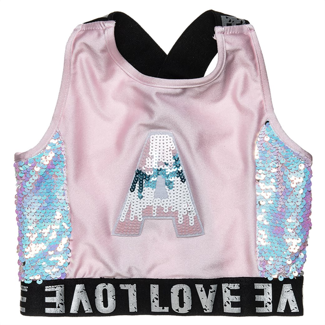 Alouette παιδικό σετ ρούχων cropped μπλούζα με παγιέτες και κολάν (6-16 ετών) 2