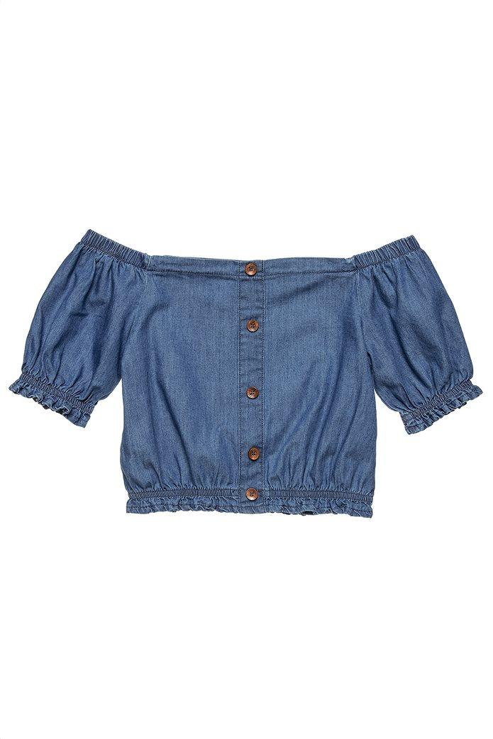 Alouette παιδική μπλούζα denim με διακοσμητικά κουμπιά (6-14 ετών) 1