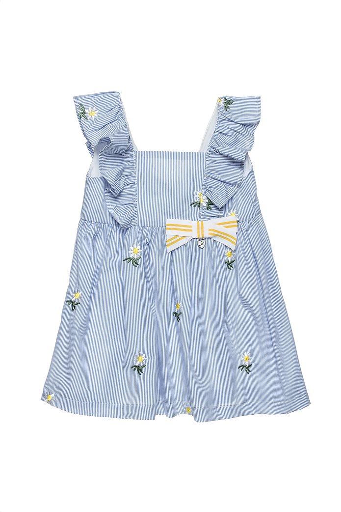 Alouette παιδικό ριγέ φόρεμα με κεντημένα λουλούδια (2-5 ετών) 0