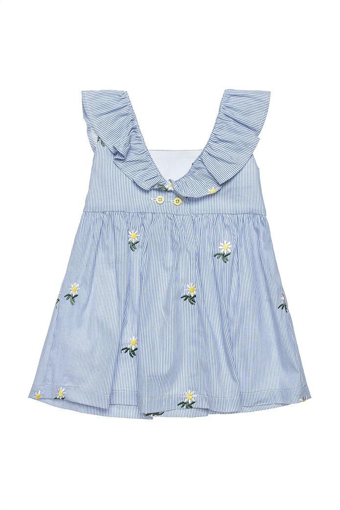 Alouette παιδικό ριγέ φόρεμα με κεντημένα λουλούδια (2-5 ετών) 1