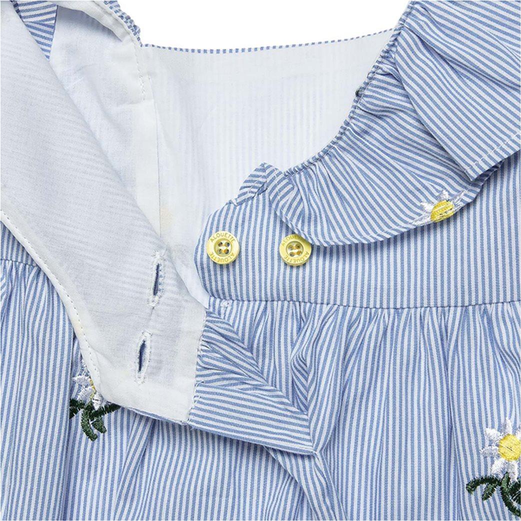 Alouette παιδικό ριγέ φόρεμα με κεντημένα λουλούδια (2-5 ετών) 2