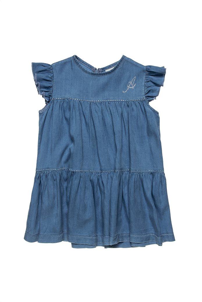Alouette παιδικό denim φόρεμα με στρας λεπτομέρειες (2-5 ετών) 0