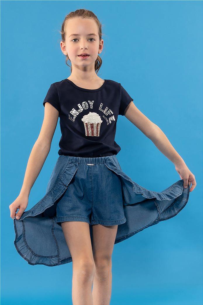 Alouette παιδική τζην φούστα με ενσωματωμένο σορτς (6-14 ετών) 0