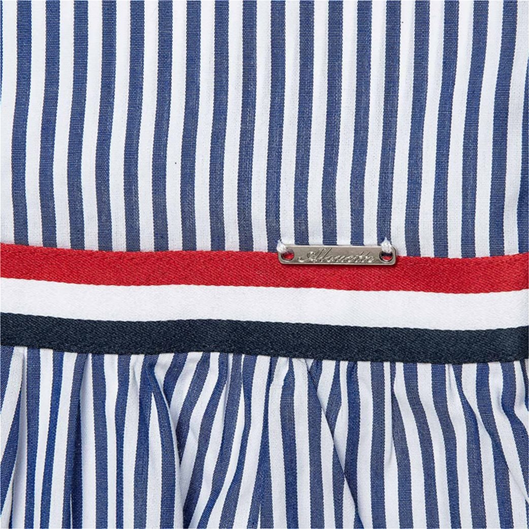Alouette παιδικό ριγέ φόρεμα με τρέσα (6-16 ετών) Μπλε 1