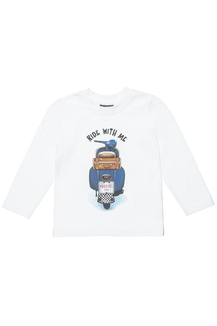 "Alouette παιδική μπλούζα με print ""Ride with me"" (12 μηνών- 5 ετών) Λευκό 0"