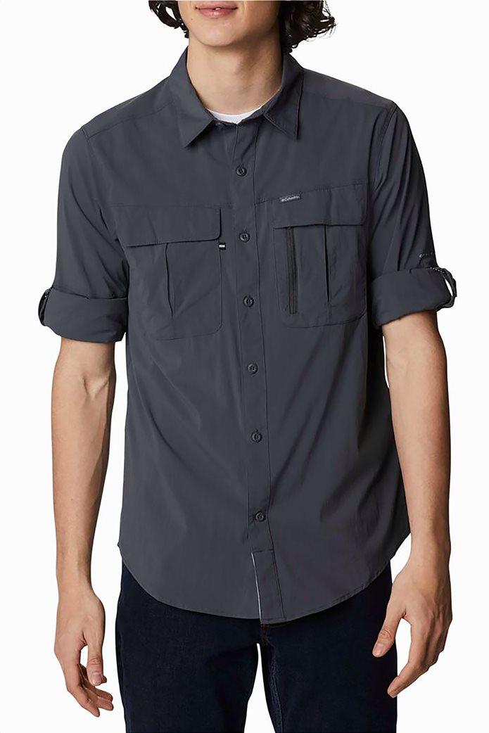 Columbia ανδρικό πουκάμισο μονόχρωμο με flap τσέπες στο στήθος ''Newton Ridge™'' 0
